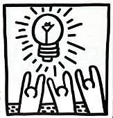 Keith Haring - Untitled (Light Worship)