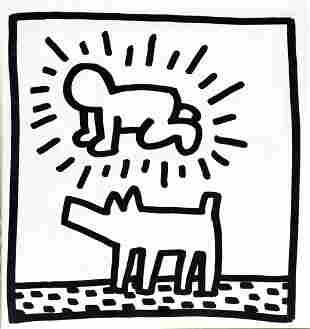 Keith Haring - Untitled (Man and Dog)