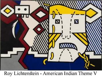 Roy Lichtenstein - American Indian Theme V