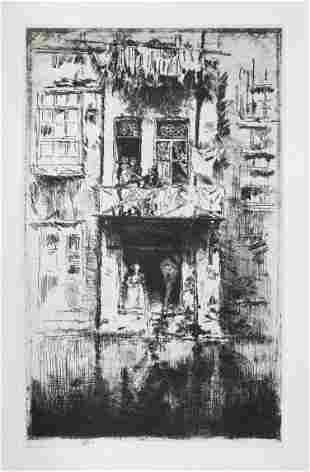 James McNeill Whistler - Balcony Amsterdam