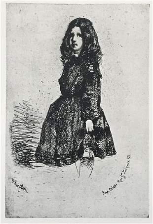 James McNeill Whistler - Annie (Fourth State French