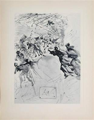 Salvador Dali - Mounted On The Seventh Terrace