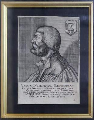 Pieter Van Der Heyden - Portrait of Albrecht Durer