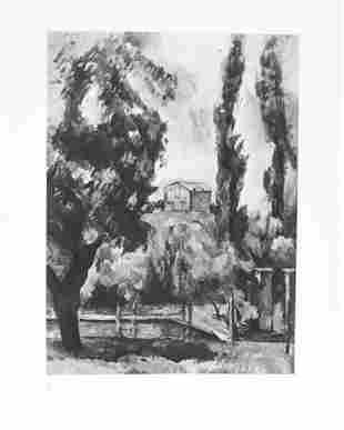 Paul Cezanne (after) - Le jas de Bouffan