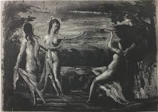 Paul Cezanne (after) - Judgement of Paris