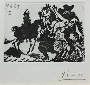 Pablo Picasso - Reitre Enlevant une Femme pour le