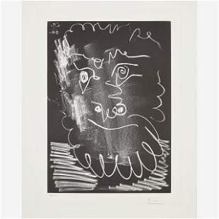 Pablo Picasso - Tete d'Homme Barbu (from Papiers