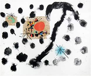 "Joan Miro - Plate 8 from ""Album 19"""