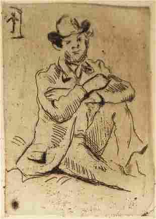 Paul Cezanne - Portrait du Peintre. A. Guillaumin au