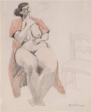 MIlton Avery - Nude with Chair