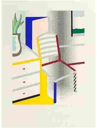 Roy Lichtenstein - Interior with Chair