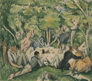Paul Cezanne - Le Dejeuner Sur L