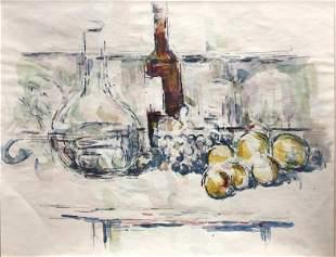 Paul Cezanne - Nature Morte avec Carafe Bouteille et