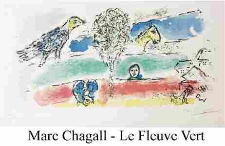 Marc Chagall - Le Fleuve Vert