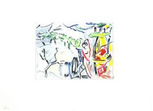"""Roy Lichtenstein - Untitled from """"Landscape Sketches"""""""