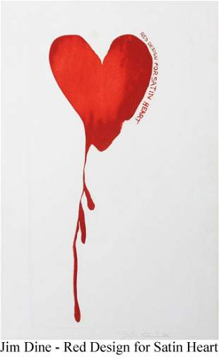 Jim Dine - Red Design for Satin Heart