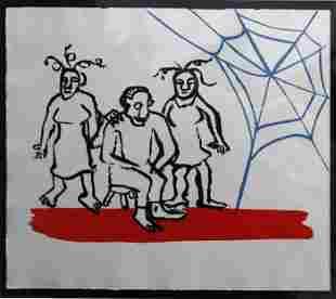 """Alexander Calder - Untitled from """"The Sacrelige of Alan"""