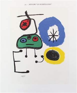 "Joan Miro - Poster for ""Le Surrealisme"""