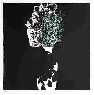 """Donald Sultan - Untitled, from \""""Visual Poetics\"""""""