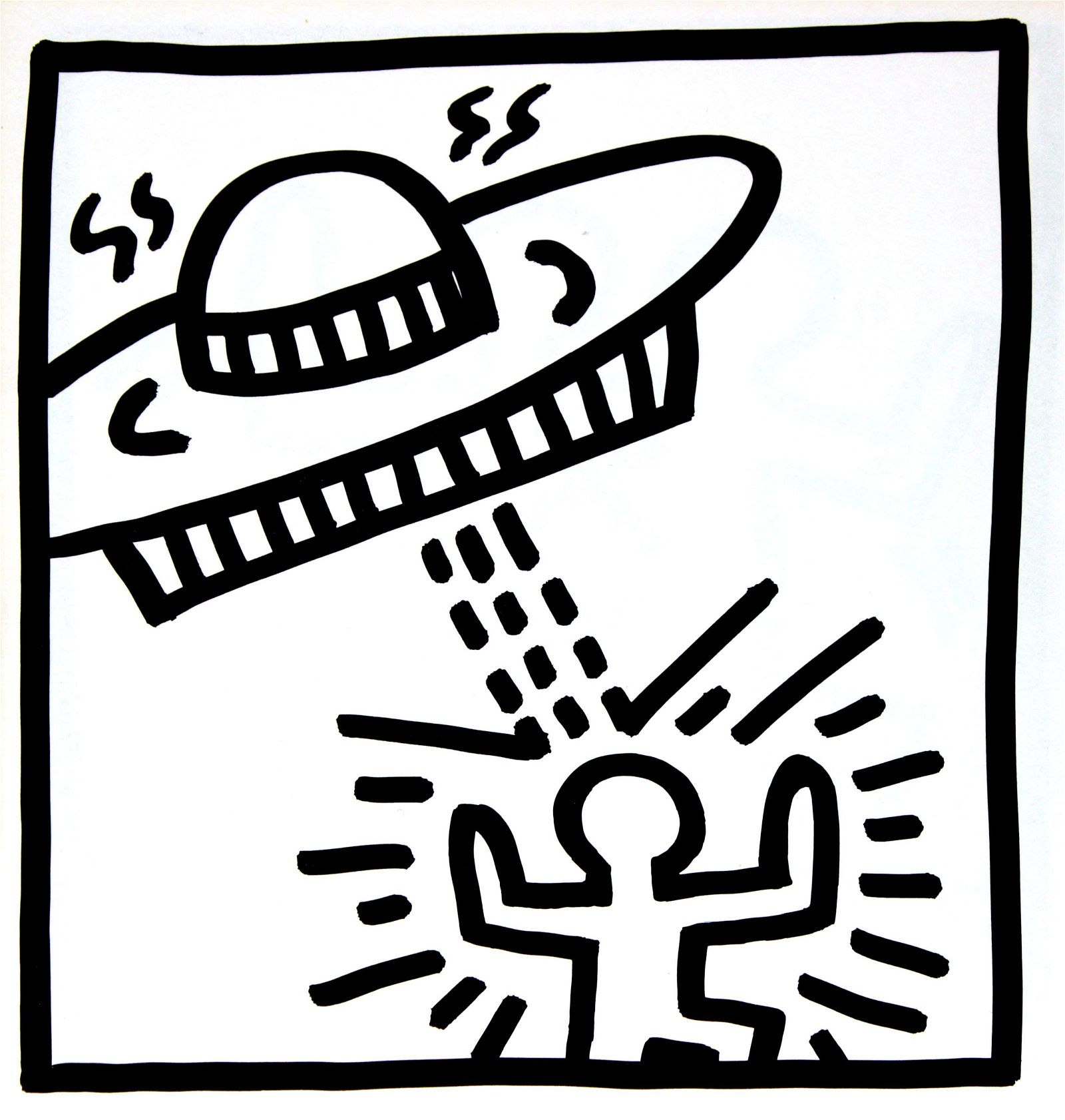 Keith Haring - Untitled (Alien Abduction II)