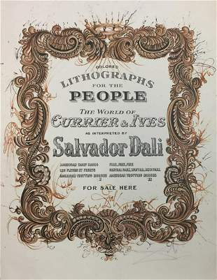 Salvador Dali - Currier & Ives Cover Sheet