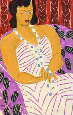 Henri Matisse (After) - Woman in White
