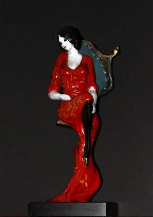 Itzchak Tarkay - Lady in Red