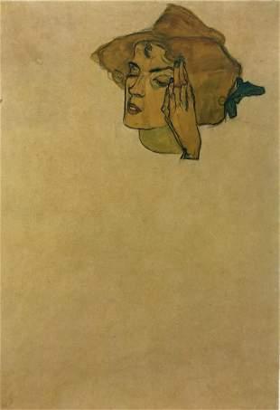 Egon Schiele (After) - Study for a portrait of a lady