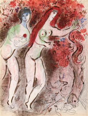 Marc Chagall - Adam and Eve and the Forbidden Fruit