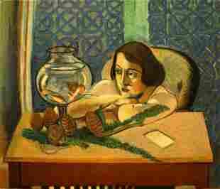 Henri Matisse (After) - Woman Before an Aquarium