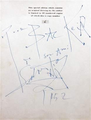 Salvador Dali - Hand written dedication by Dali