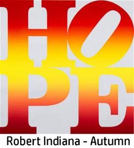 Robert Indiana - Autumn (Four Seasons of Hope Silver)