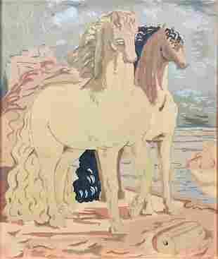 Giorgio De Chirico - Horses on the Shore
