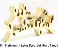 Mr. Brainwash - Life is Beautiful - Hard Candy (Gold