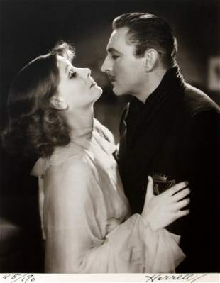 George Hurrell - Greta Garbo and John Barrymore