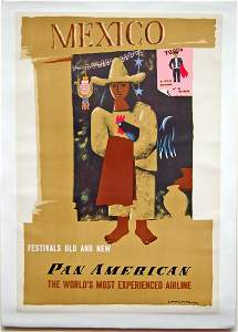 E. McKnight Kauffer - Mexico Pan American Airlines