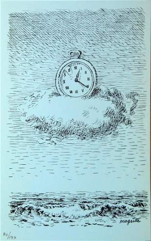 Rene Magritte (After) - Untitled (Clock)