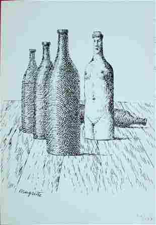 Rene Magritte (After) - Untitled (Bottles)