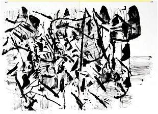 """Jean-Paul Riopelle - Untitled from """"One Cent Life"""""""