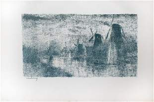 Albert Lebourg - Moulins sur la Schie