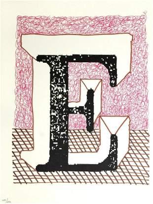"""David Hockney - Letter E from """"Hockney"""