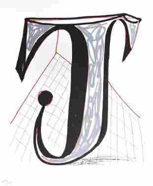 """David Hockney - Letter J from """"Hockney"""