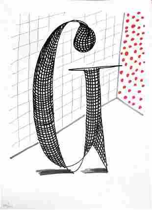 """David Hockney - Letter G from """"Hockney"""