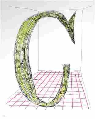 """David Hockney - Letter C from """"Hockney"""