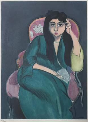 Henri Matisse - Laurette in Green in a Pink Chair