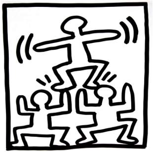Keith Haring - Untitled (Human Pyramid)