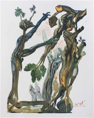 Salvador Dali - The Wood and The Suicide