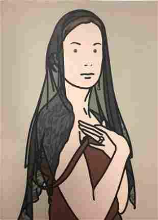 Julian Opie - Anya with veil