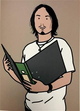 Julian Opie - Hirofumi with file