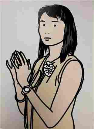 Julian Opie - Hijri with hands together